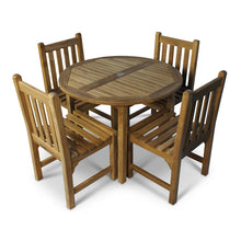 Load image into Gallery viewer, Little Bistro Teak 4 Seater Garden Dining Set with Round Table