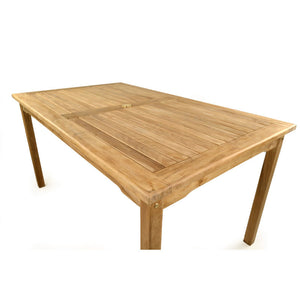 Teak Rectangular Garden Table 150cm x 90cm