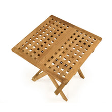 Load image into Gallery viewer, Folding Square Teak Coffee Table 50cm x 50cm