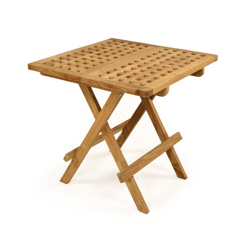 Folding Square Teak Coffee Table 50cm x 50cm
