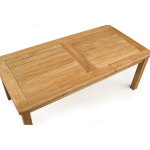Luxury Rectangular Teak Coffee Table 120cm x 60cm