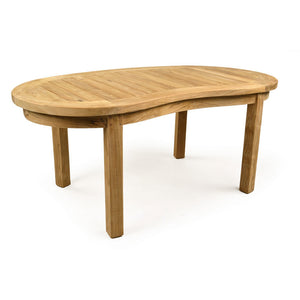 Teak Curved Outdoor Coffee Table