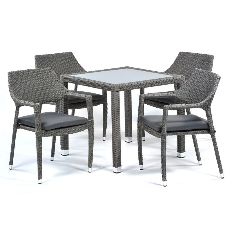 Oasis Glass Table and 4 Chairs Set