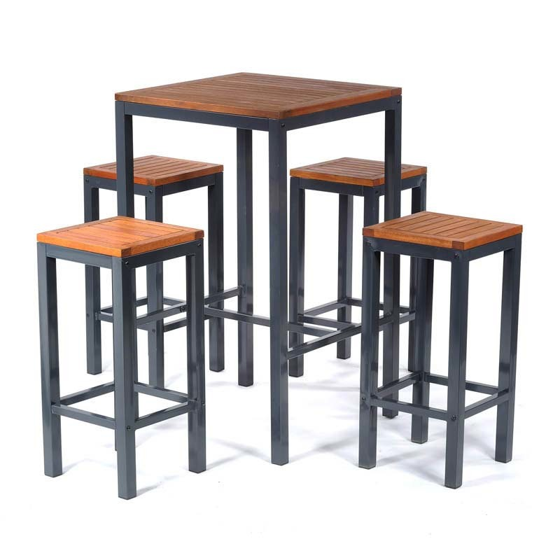 Dorset Bar Table and 4 Stool Set