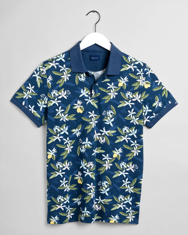 GANT Lemon Flower Polo Shirt - Navy