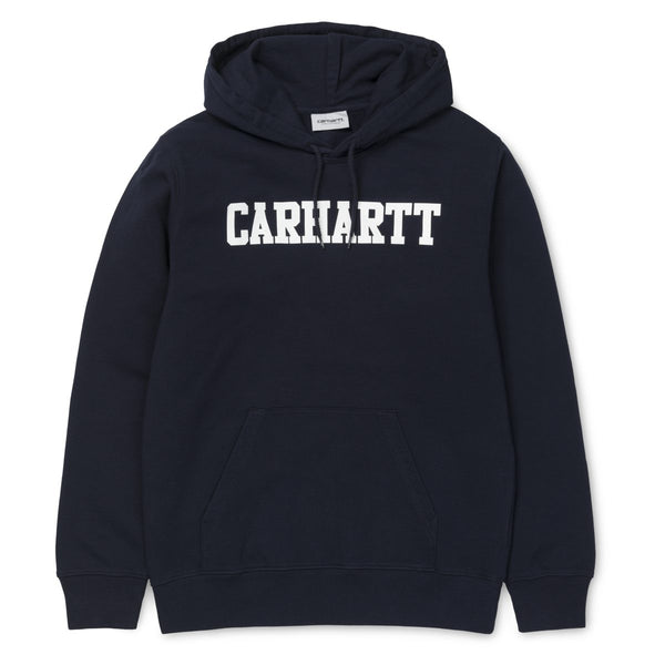Carhartt WIP Hooded College Sweat - Dark Navy / White