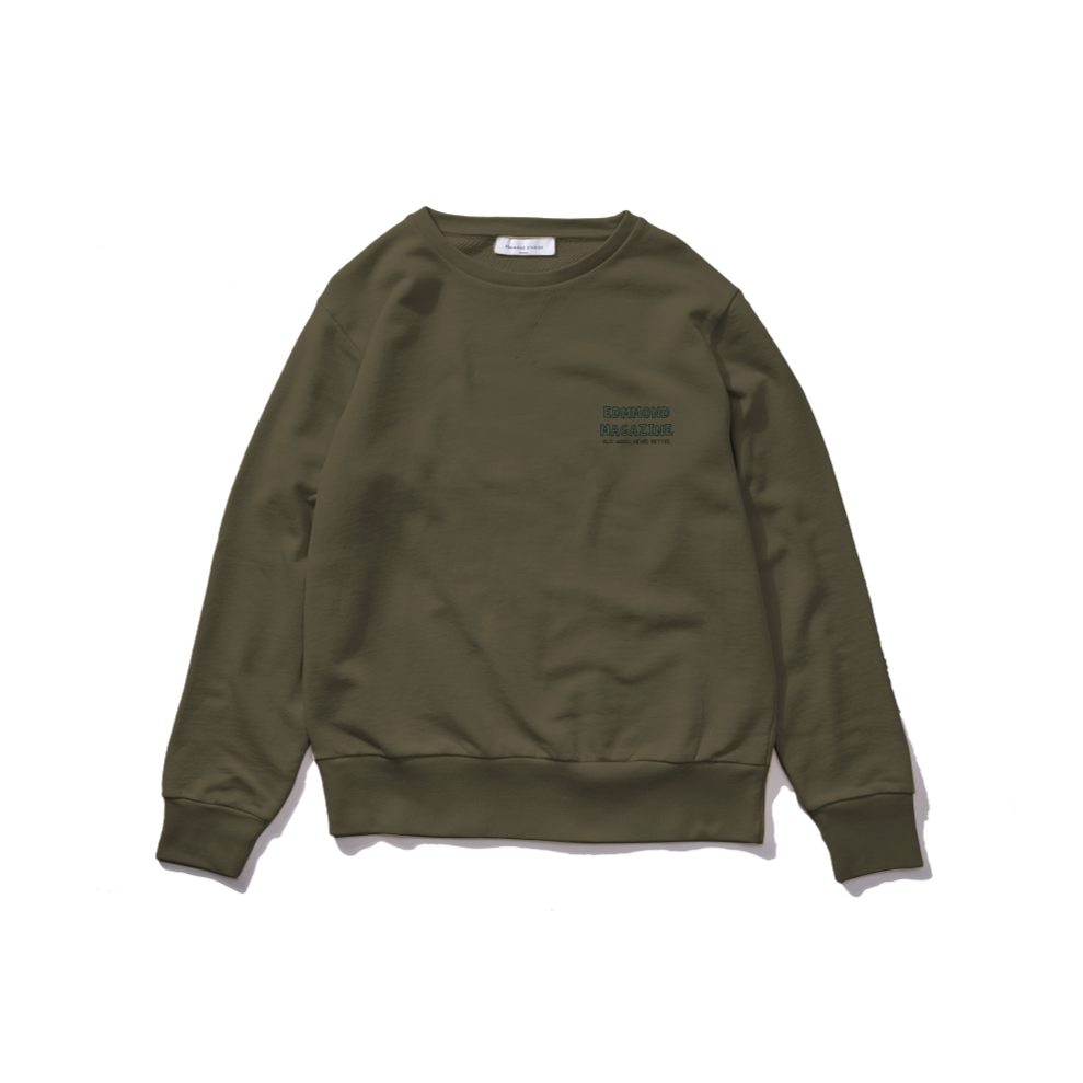 Edmmond Studios La Vie Simple Dog Sweatshirt - Khaki