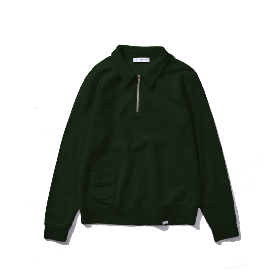 Edmmond Studios Actual Zip Sweatshirt - Green
