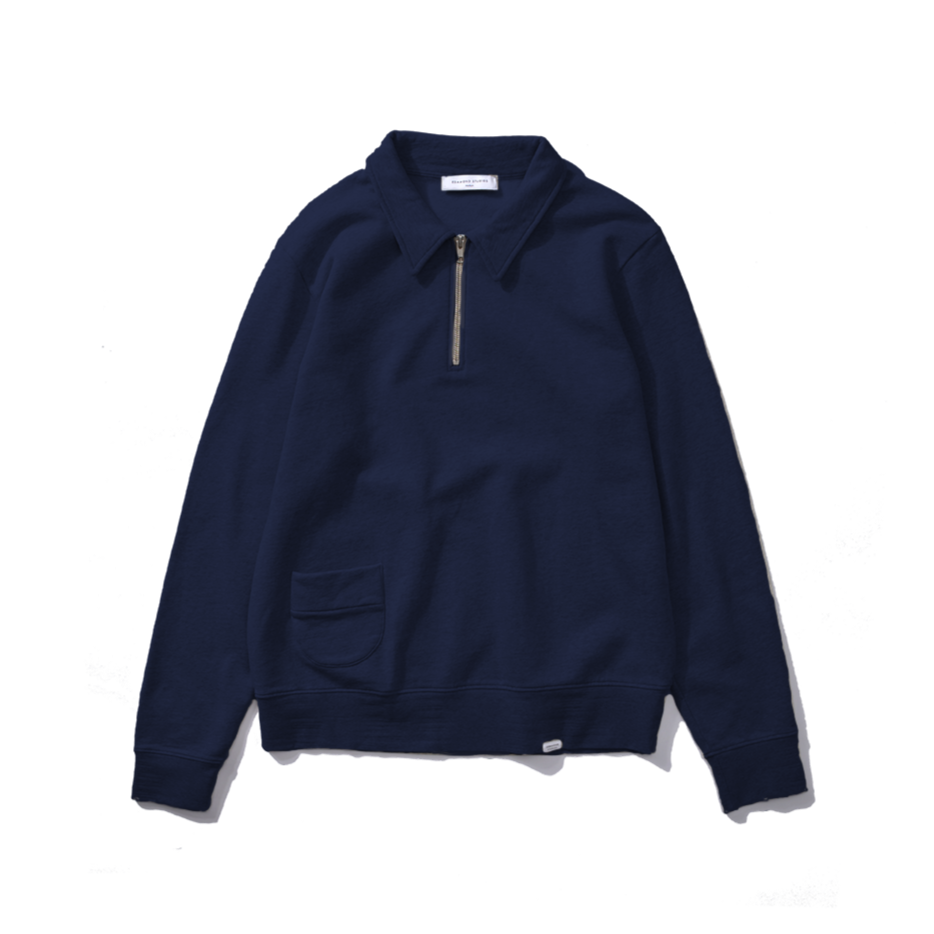 Edmmond Studios Actual Zip Sweatshirt - Navy
