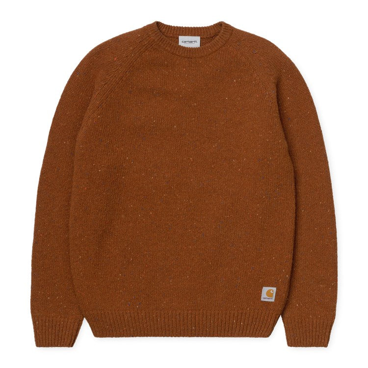 Carhartt WIP Anglistic Sweater - Brandy Heather