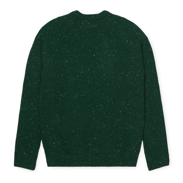 Carhartt WIP Anglistic Sweater - Bottle Green Heather