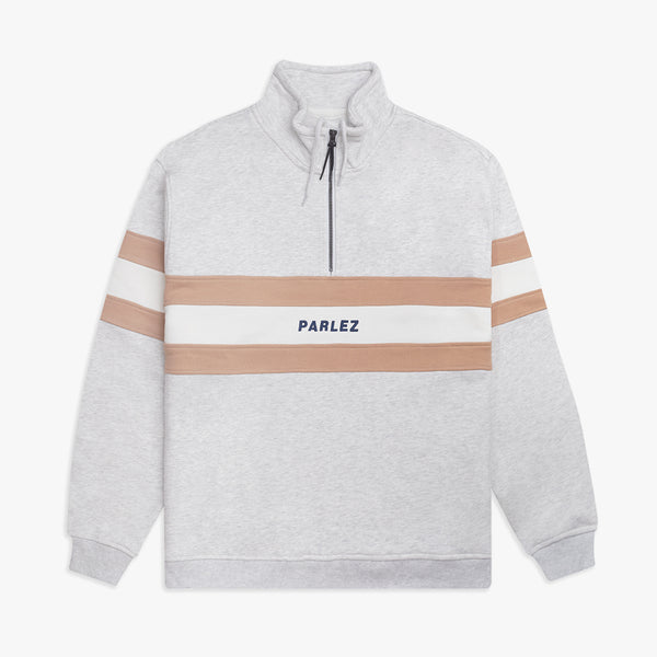 Parlez Bowline 1/4 Zip Sweatshirt - Grey Heather