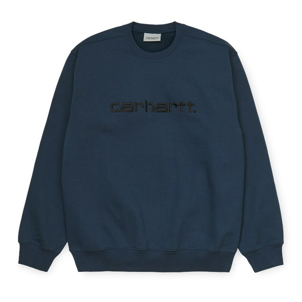 Carhartt Embroidered Carhartt Sweat - Admiral / Black