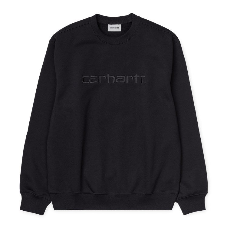 Carhartt Embroidered Carhartt Sweat - Black / Black