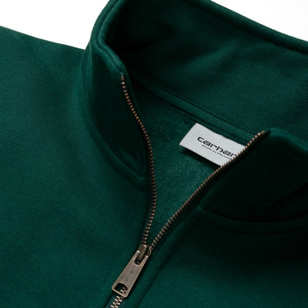 Carhartt Hooded Chase 1/4 Sweatshirt - Dark Fir