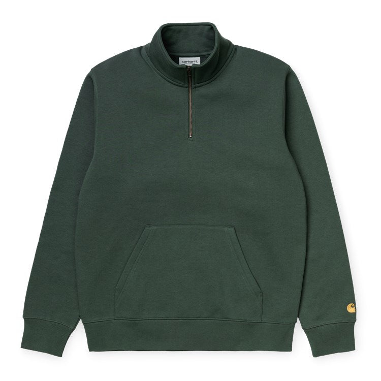 Carhartt WIP Chase Neck Zip Sweat - Dark Teal