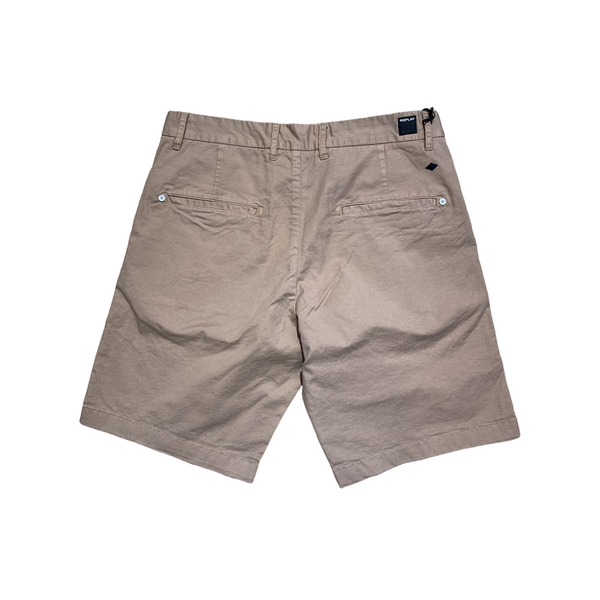 Replay Garment Dyed Twill Shorts - Sand