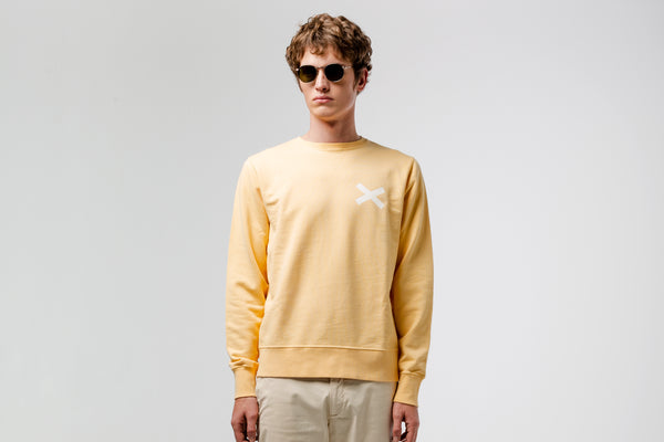 Edmmond Studios Cross Sweatshirt - Yellow