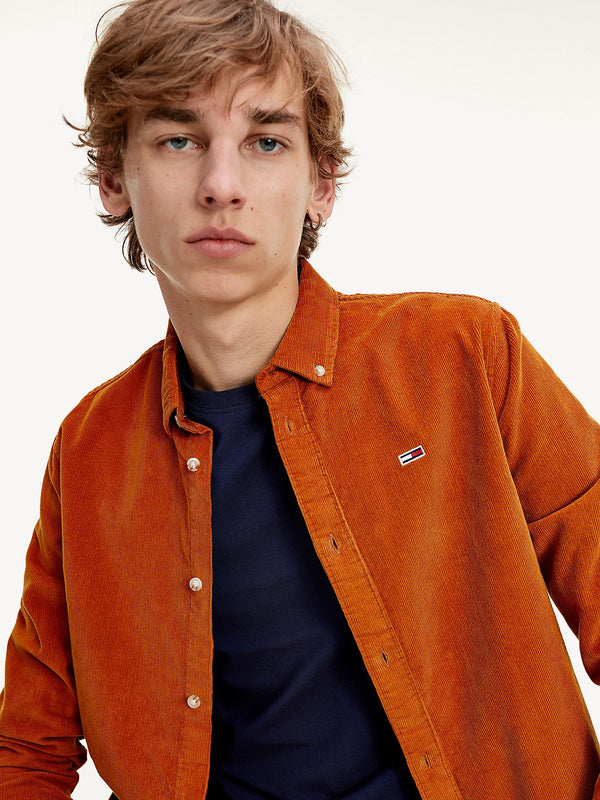 Tommy Jeans Cotton Corduroy Shirt - Caramel