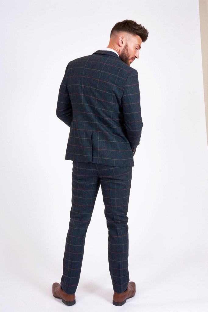 Marc Darcy Eton Suit Jacket - Navy Check