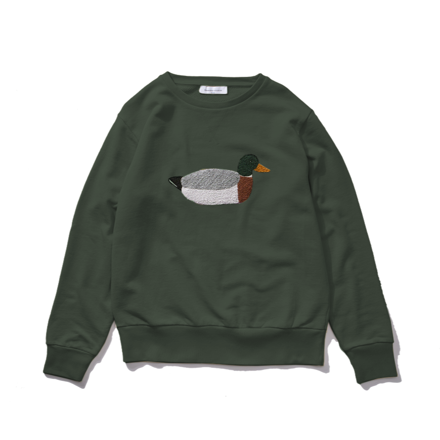 Edmmond Studios Duck Hunt Sweatshirt - Green