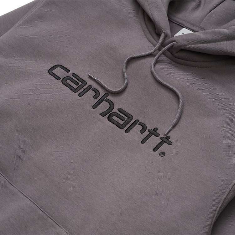 Carhartt WIP Hooded Embroidered Carhartt Script Sweatshirt - Husky