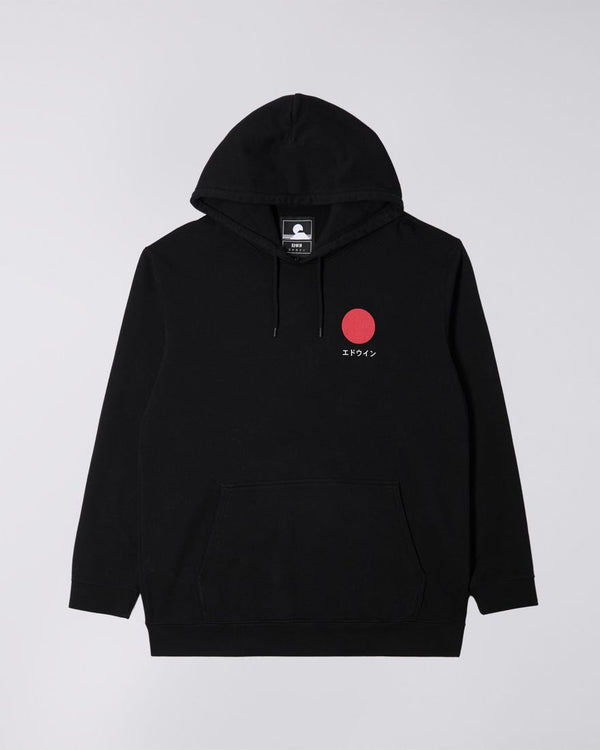 Edwin Japanese Sun Hooded Sweatshirt - Black