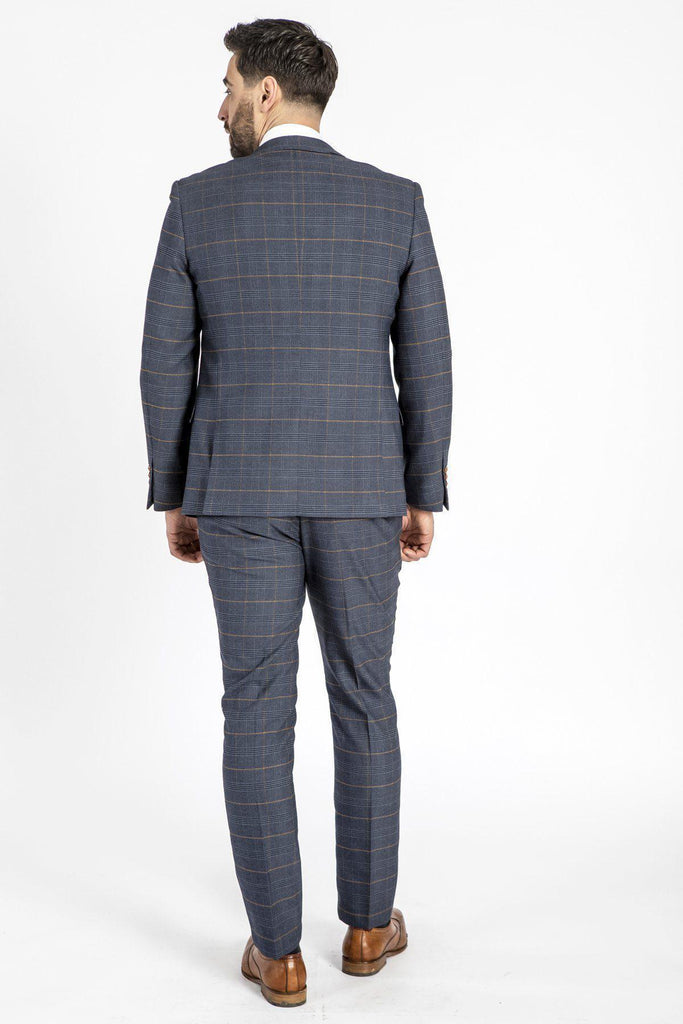 Marc Darcy Jenson Suit Jacket - Marine Check