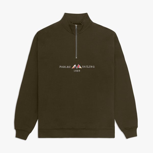 Parlez Jetty 1/4 Zip Sweatshirt - Khaki