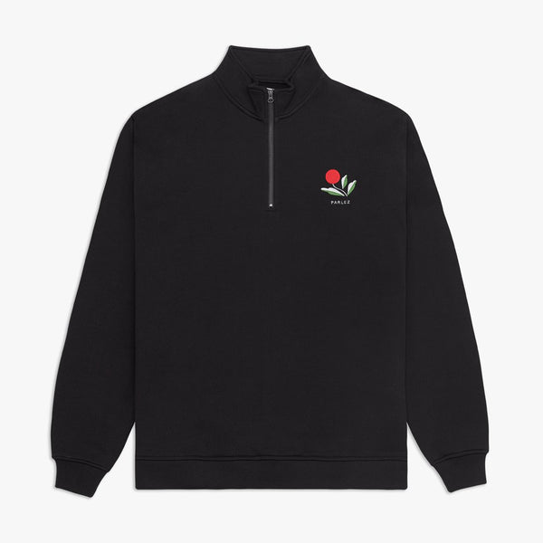 Parlez Kojo 1/4 Zip Sweat - Black