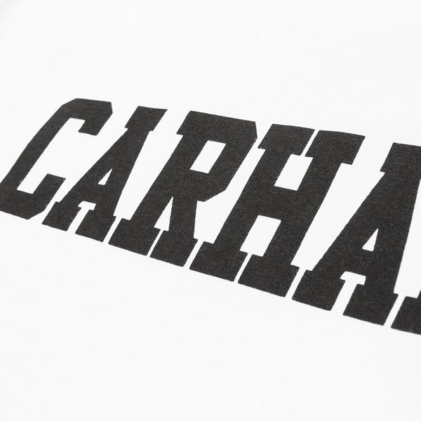 Carhartt WIP Long Sleeve College T-Shirt - White / Black