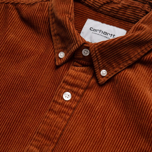 Carhartt WIP Madison Cord Shirt - Brandy