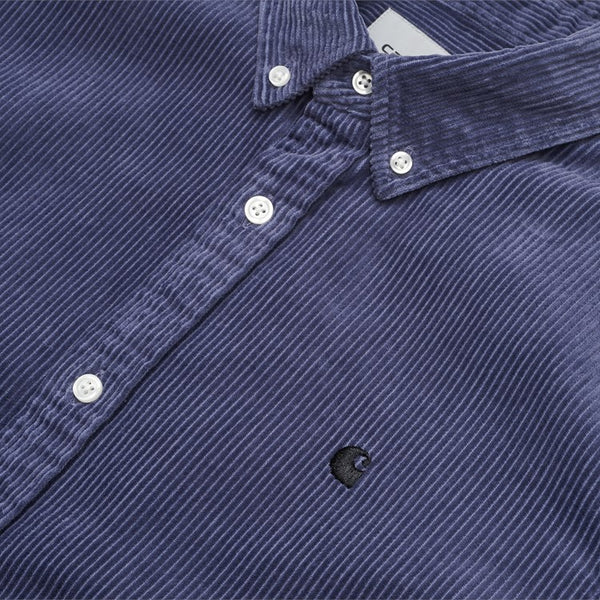 Carhartt WIP Madison Cord Shirt - Dusty Mauve