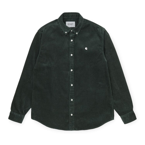 Carhartt WIP Madison Cord Shirt - Dark Teal