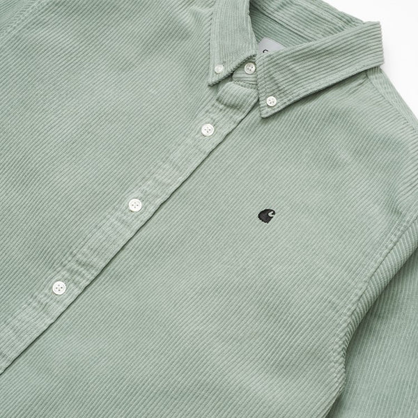 Carhartt WIP Madison Cord Shirt - Frosted Green