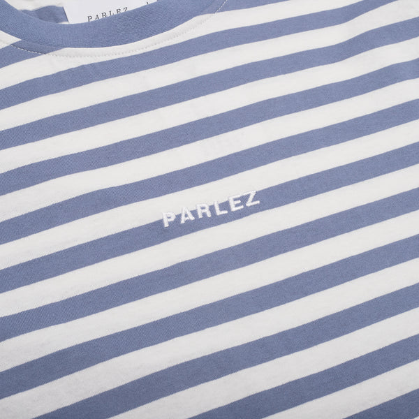 Parlez Ladsun Heavy Stripe T-Shirt - Blue
