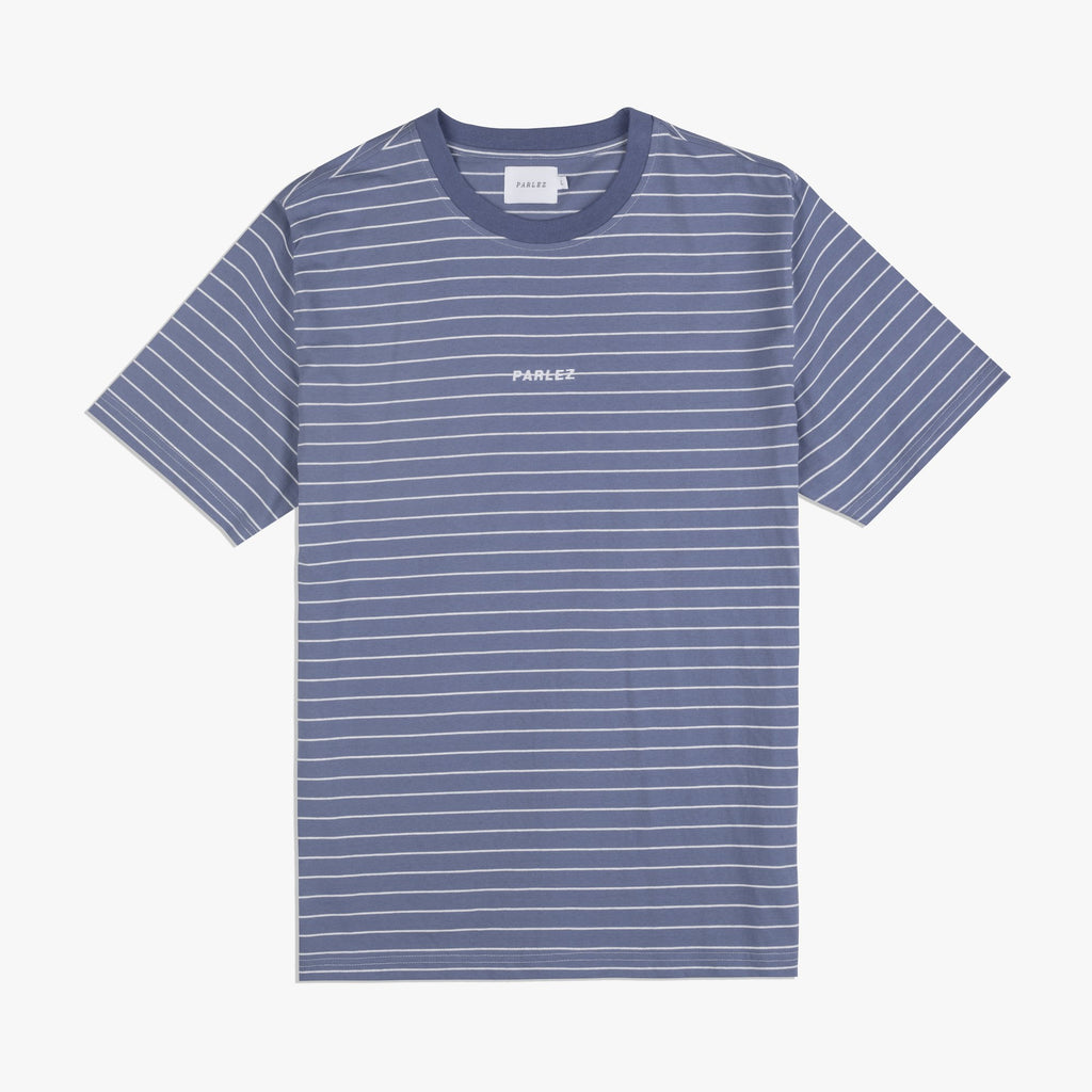 Parlez Ladsun Stripe T-Shirt - Dusty Blue