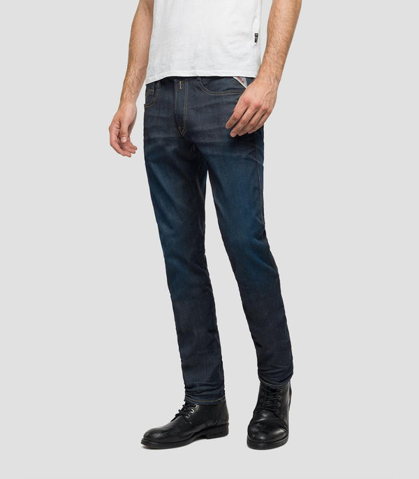 Replay Hyperflex Jeans - Dark Blue Denim
