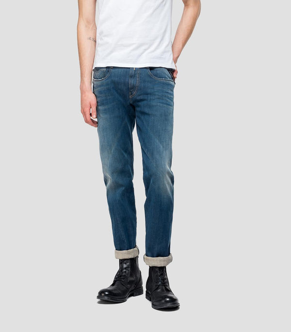 Replay Hyperflex Plus Jeans - Medium Blue