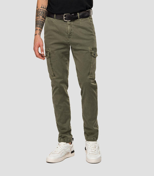 Replay Hyperflex Cargo Trouser - Khaki