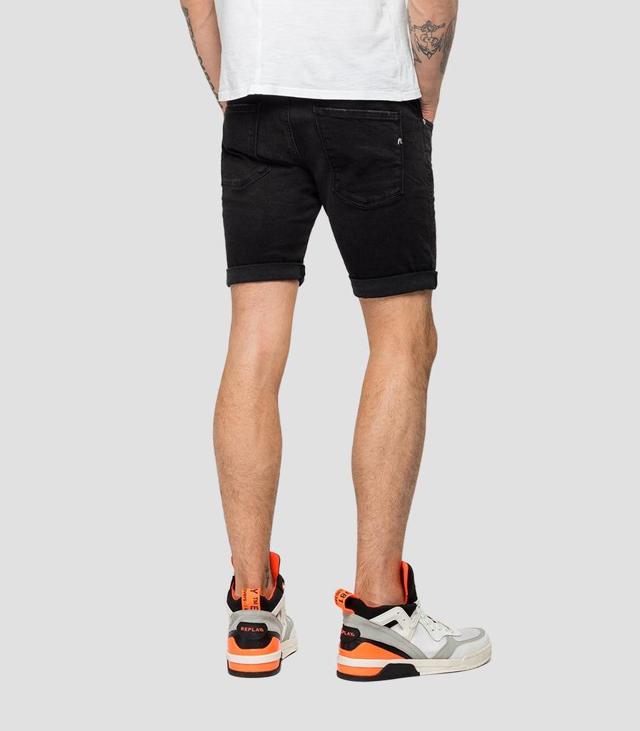 Replay Hyperflex Clouds Denim Shorts - Black