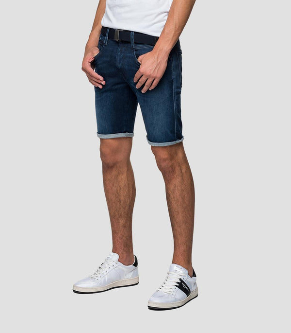 Replay Hyperflex Clouds Denim Shorts - Dark Blue