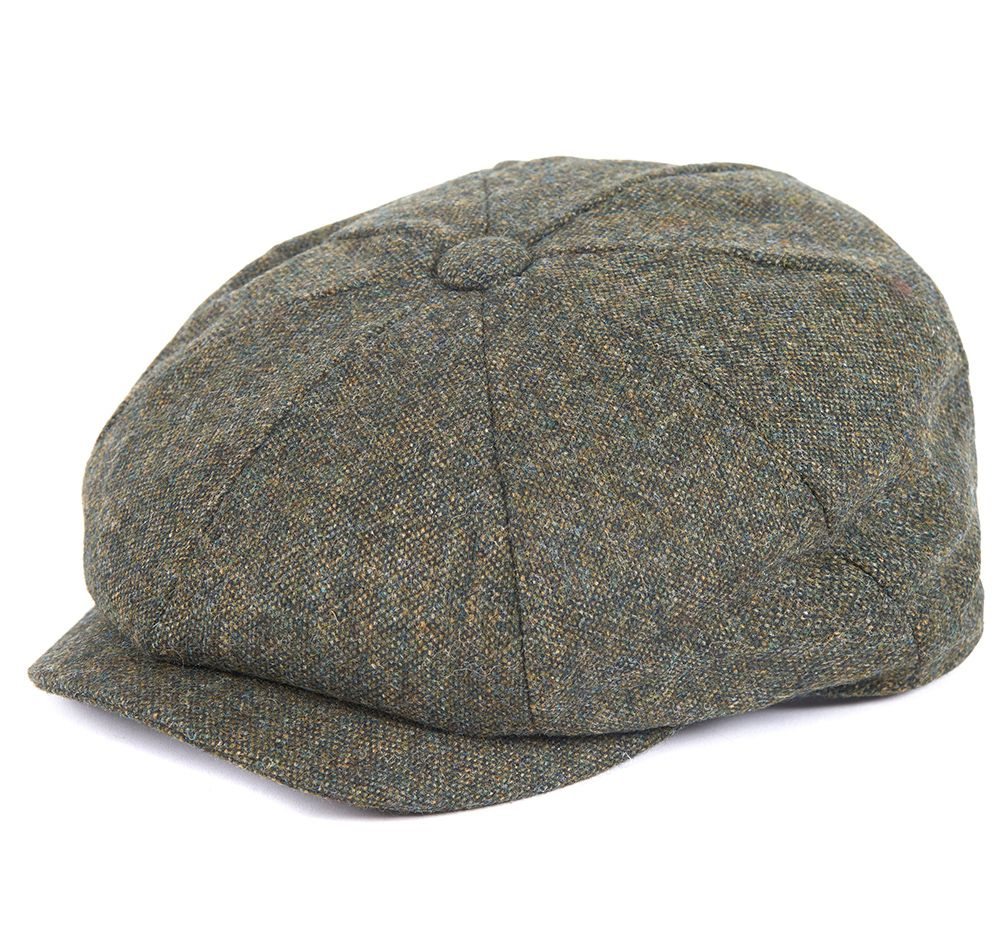 Barbour Thorne Baker Boy Hat - Olive Tweed