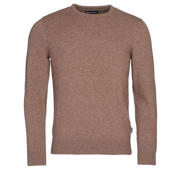 Barbour Harold Elbow Patch Crew Knit - Sandstone