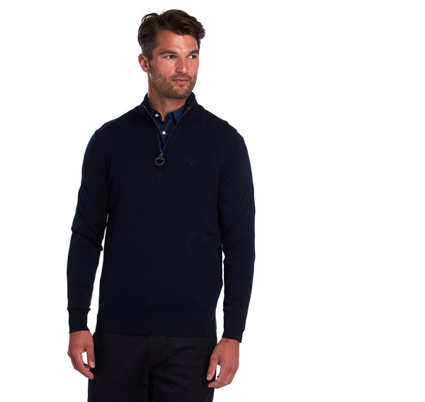Barbour Tain Half Zip - Navy