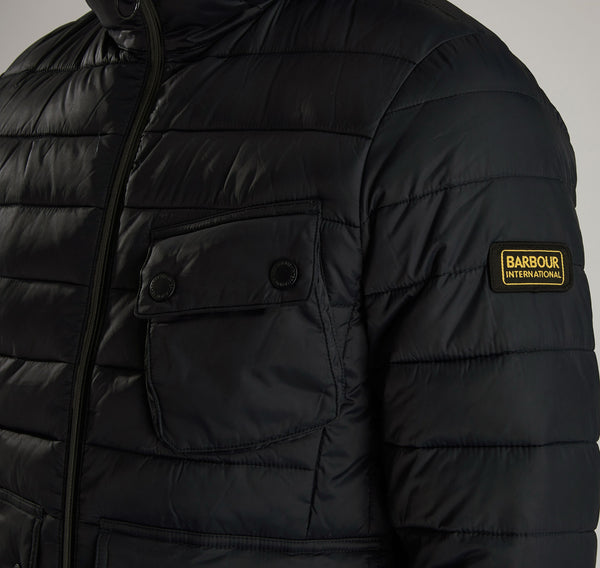 Barbour International Ouston Quilted Jacket - Black