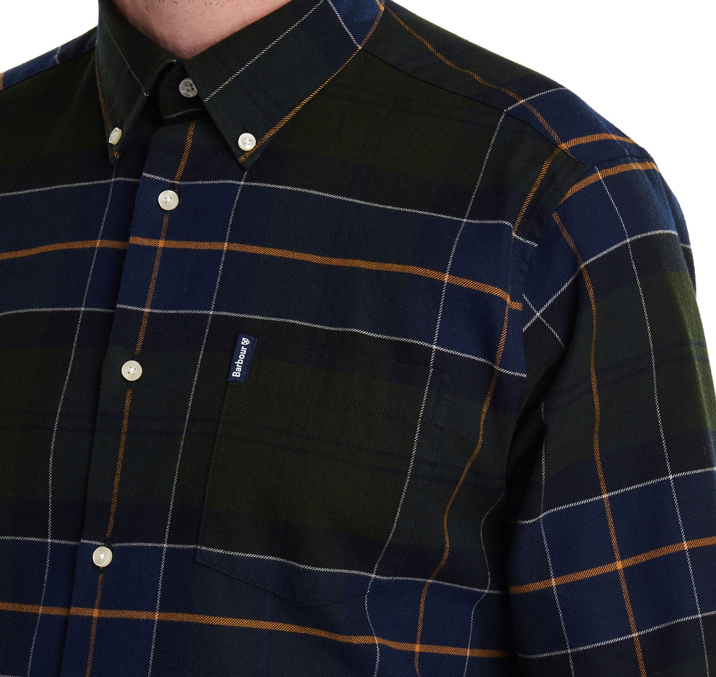 Barbour Lustleigh Check Shirt - Forest