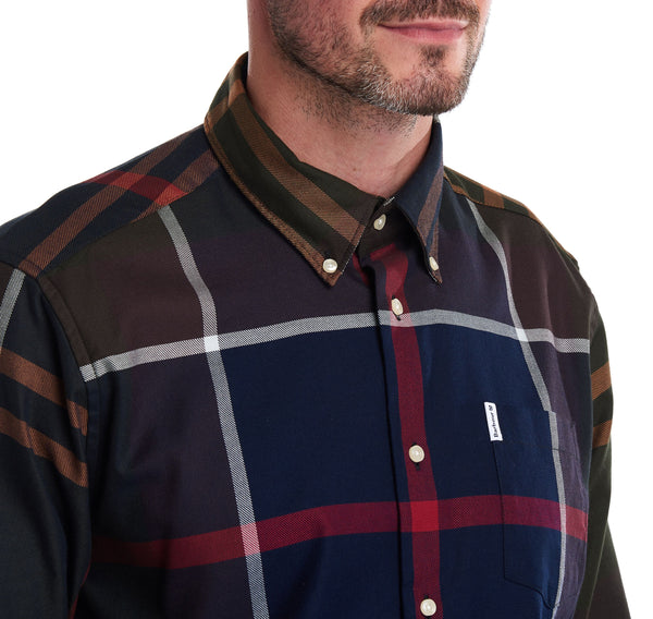 Barbour Dunoon Check Shirt - Olive Tartan