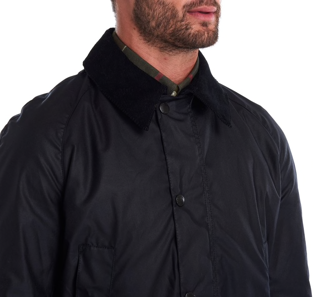 Barbour Ashby Wax Jacket - Navy