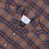 Portuguese Flannel Orange Check Shirt - Blue / Orange Check